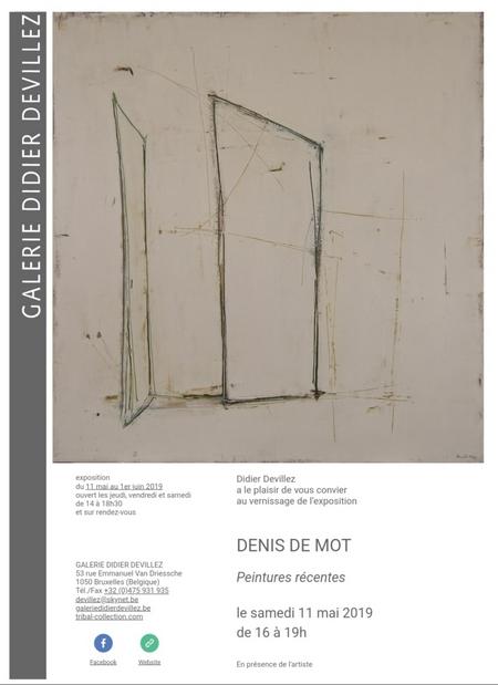 Exposition à la Galerie Didier Devillez, à Bruxelles, du 11 mai au 01 juin 2019